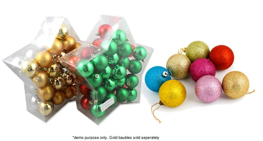 How to make Glitter Christmas Baubles