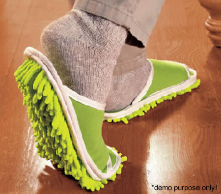 These Slippers are Made for Mopping!