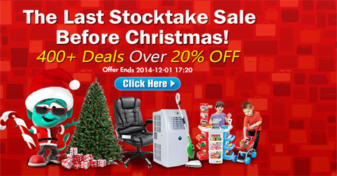 Last Stocktake Sale Before Christmas!