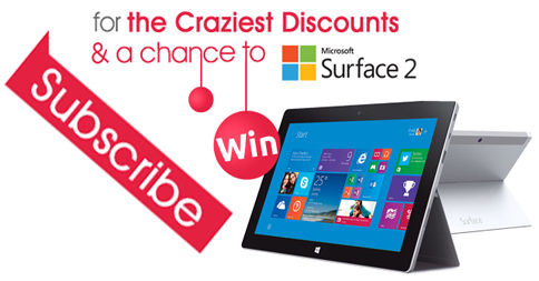 Win a Microsoft Surface 2 Tablet!