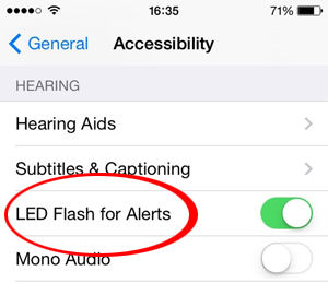 flash for alert