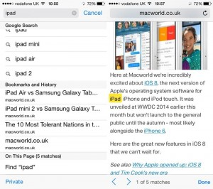 search in browser