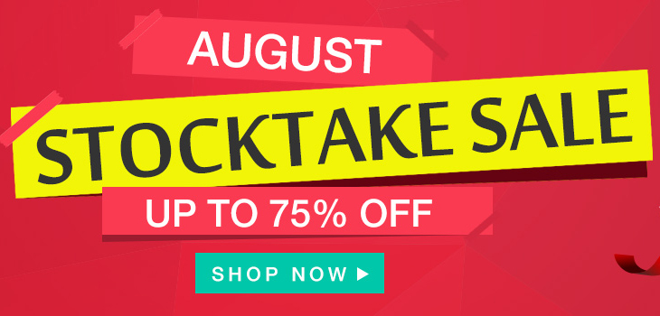 August Stocktake Sale – Up to 75% off!