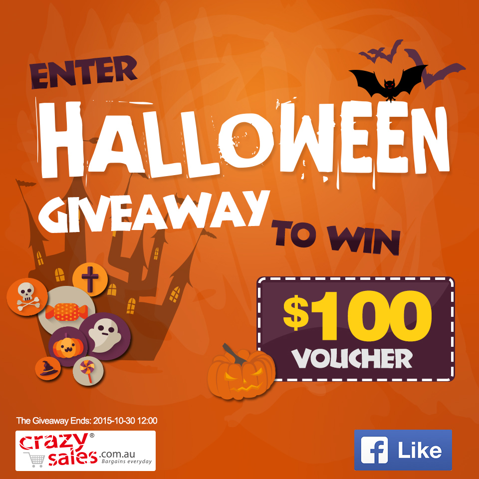 Enter Halloween Giveaway to Win $100 Voucher