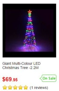 Giant Multi-Colour LED Christmas Tree