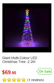 Giant Multi-Colour LED Christmas Tree
