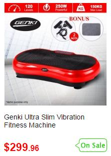 Red Vibrating Workout Platform