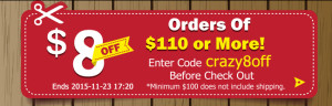 crazysales coupon crazy8off