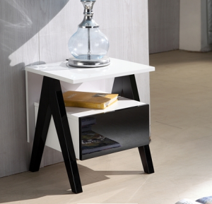 High Gloss Bedside Table Cabinet and Nightstand