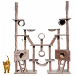 Cat Tree 244cm Multi Level Gym Play Centre with Hammock - Plush Material