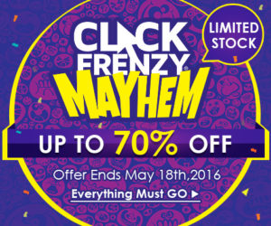 CLICK FRENZY – Top 20 Hot Deals on CrazySales