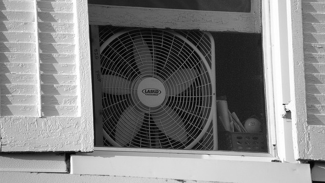 fan facing out