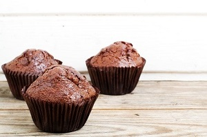 air fried chocolate muffins
