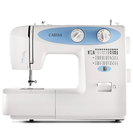 CARINA 32-Pattern Mini Sewing Machine-Blue