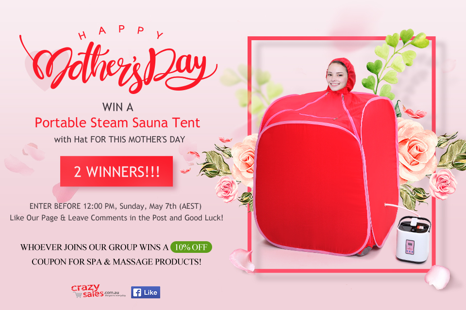 Mother's Day Sauna Tent Giveaway Terms and Conditions