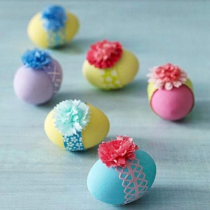 ribbon Easter eggs