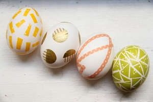 tape Easter eggs
