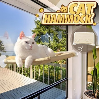 window-mounted cat hammock