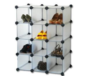 Plastic Stackable Shoe Cube