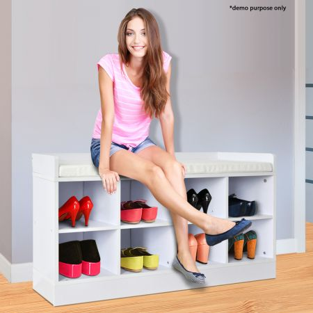 white shoe rack